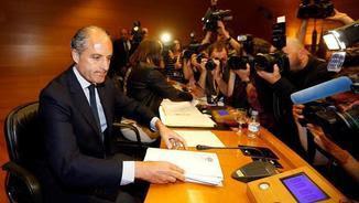 Camps ha declarat en la comissió d'investigació del Parlament valencià (EFE)