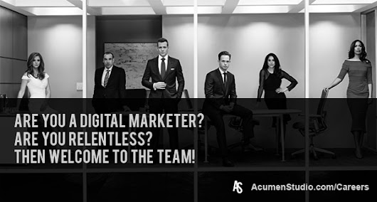 Digital Marketing Jobs at Acumen Studio
