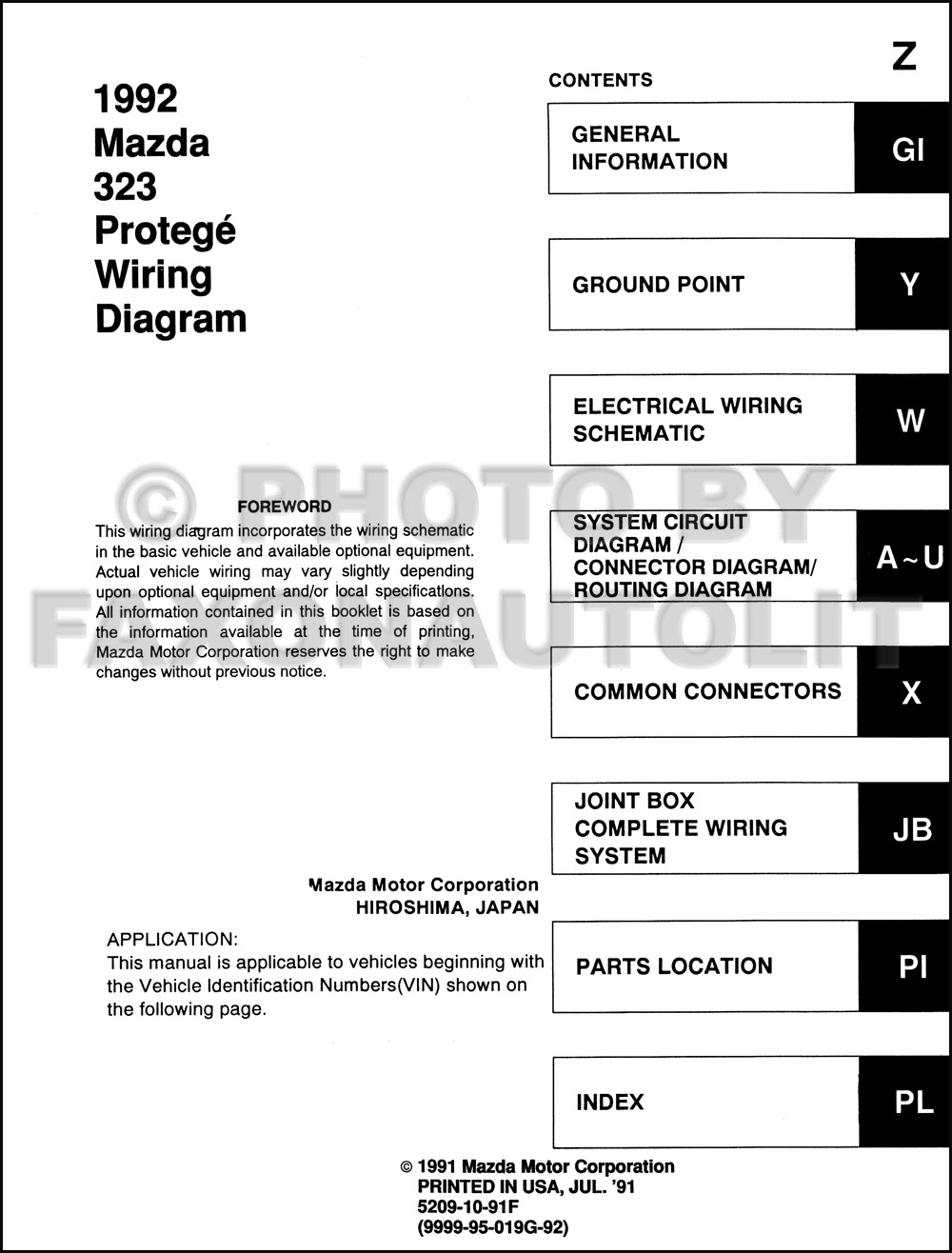 Diagram 1991 Mazda 323 Wiring Diagram Manual Original Full Version Hd Quality Manual Original Tkwiring Corrierte It