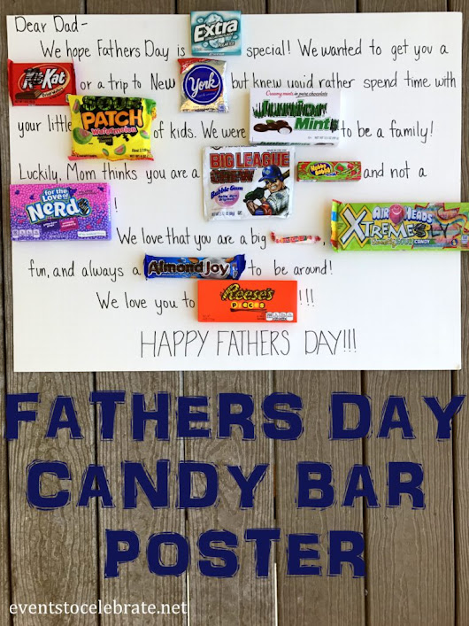 Fathers Day Candy Bar Poster - events to CELEBRATE!