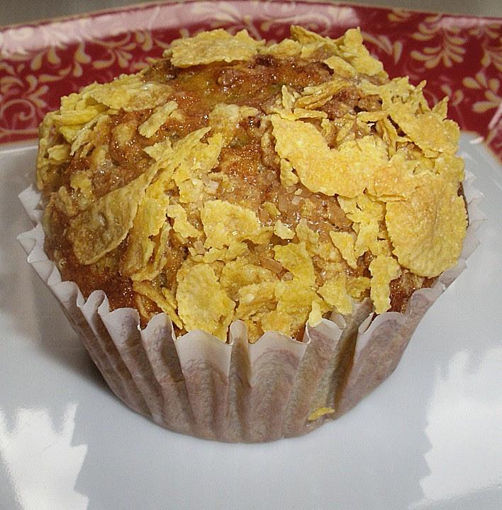Bananen - Cornflakes - Muffins Rezept