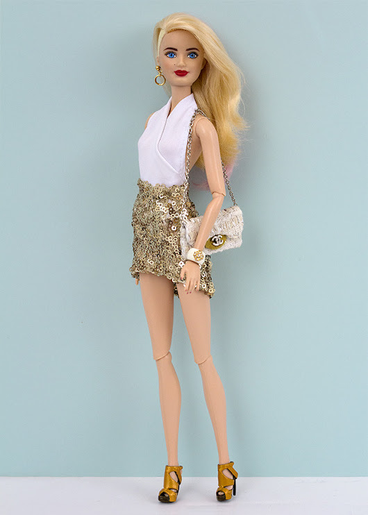 Barbie dressed for a party