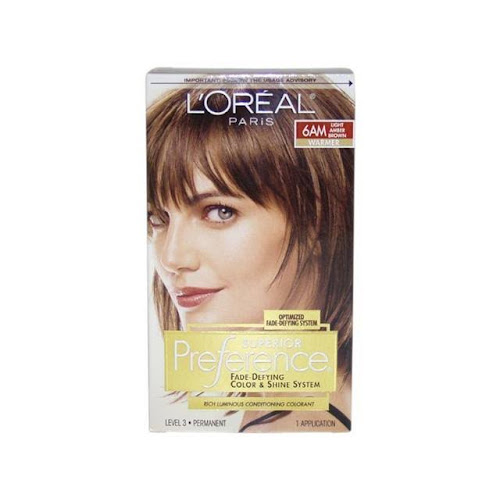 L Oreal Paris Preference Permanent Hair Color Light Amber Brown 6am