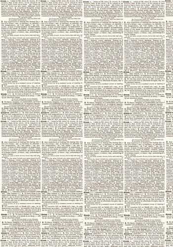 Antique Dictionary Dream 12 x 8