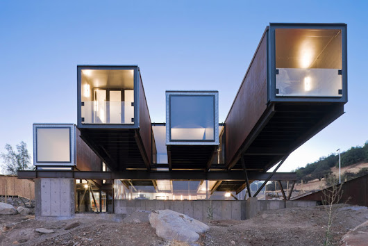 casa oruga: shipping container home snakes across the andes