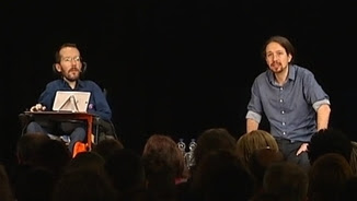 Pablo Echenique i Pablo Iglesias al Casino del Poblenou