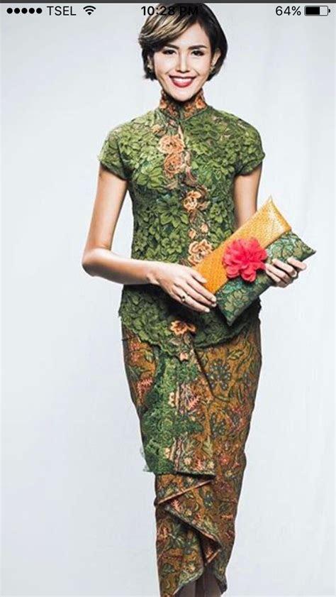 batik ijo batik fashion kebaya gaya busana  gaun