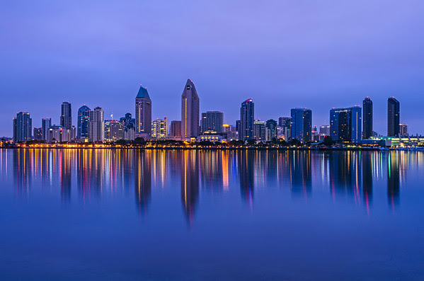 San Diego Skyline at twilight