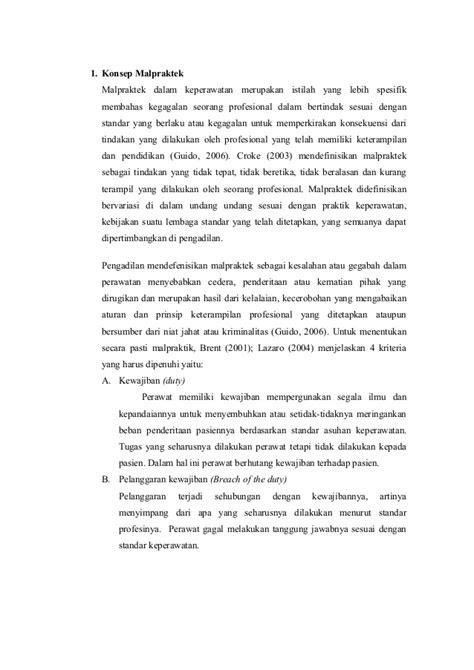 Analisa kasus berdasarkan UU Keperawatan No. 38 Tahun 2014