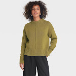 Women's Crewneck Pullover Sweater - A New Day Green