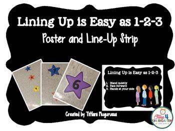 lining up kindergartners