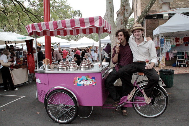 Tom and Julien with the Gelato Cart