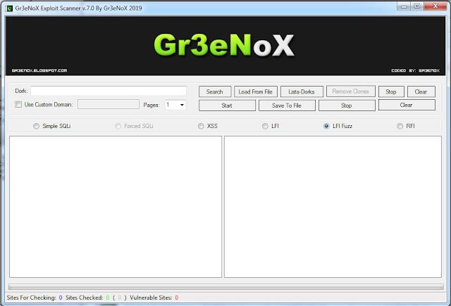 Gr3eNoX Exploit Scanner v.7.0 2019
