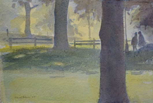 In the Shade (2107) Watercolor by Mary Adam