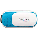 Jupiter Gear 2016BSVRBLU-VOG Voggles 3D VR Virtual Reality Headset for iPhone & Android Devices Up to 6 in. long - Blue