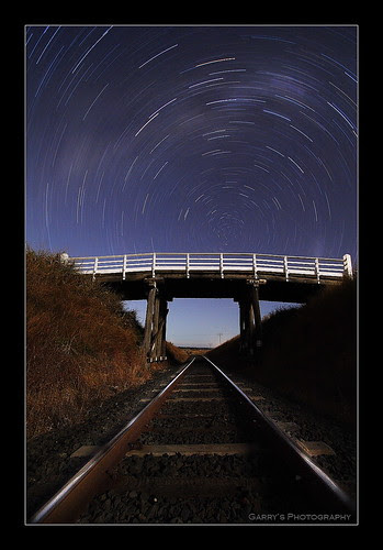 Railway to Heaven - Star Trails - by Garry Schlatter