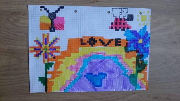 Dessin Pixel Sur Grand Carreaux Carrelage Conception