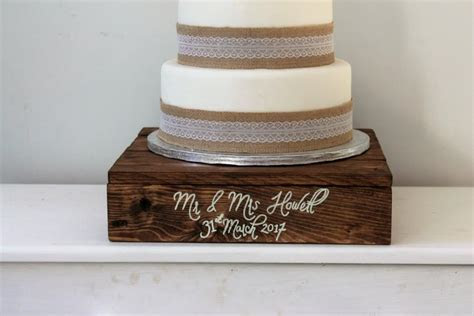 Wedding Cake Stand   Wooden Cake Stand   Personalised