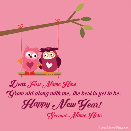 Write your name on new year wishes images 3 surprise your friends write name on cute new year love greetings picture m4hsunfo