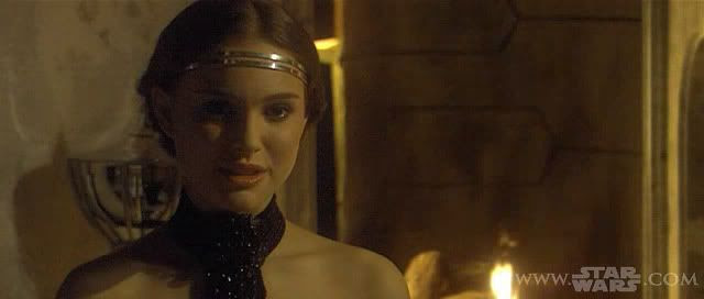 Padmé looking worthy of being...courted