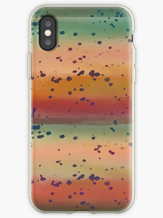 """Speckled Rainbow Trout Abstract"" iPhone Cases & Covers by Shelli Fitzpatrick 