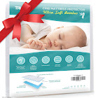 Baby Crib Mattress Protector Pad - The Softest Bamboo Rayon Fiber Quilted Terry - Waterproof & Hypoallergenic - Protect from Dust