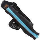 SPI Water Resistant Runners Belt with Gel Loops, Black/Turquoise