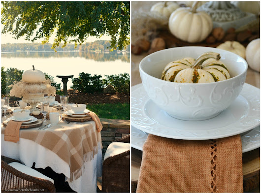 The Softer Side of Fall and Mikasa Parchment Engraved Dinnerware