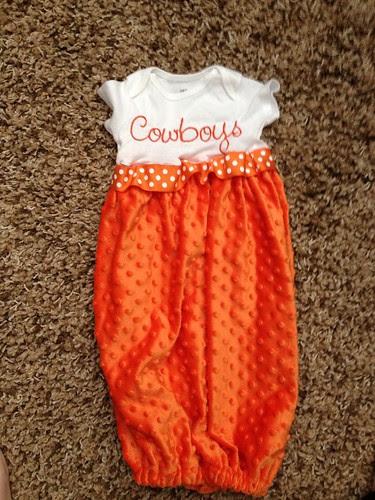 Cowboys Onesie Gown