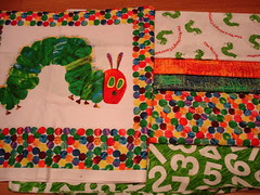 The very Hungry Caterpillar quilt fabric
