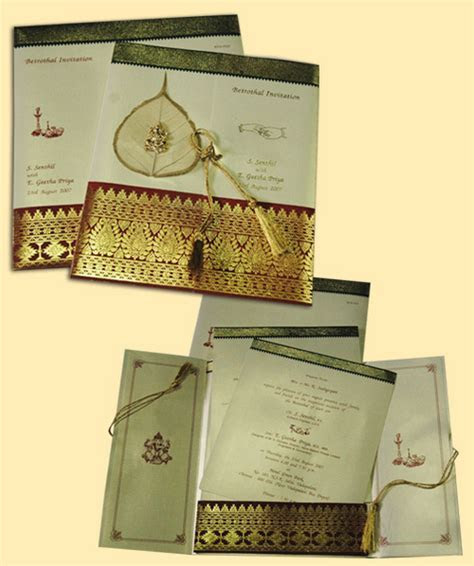 ANTIQUE SAREE CONCEPT WEDDING INVITATION CARDS in Arcot