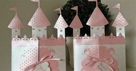 DIY Castle Shaped Invitation or Card with Template.   Oh