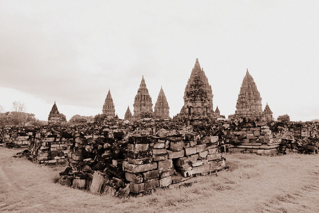The temples have been ravaged by earthquakes, volcanic eruptions and political power struggles