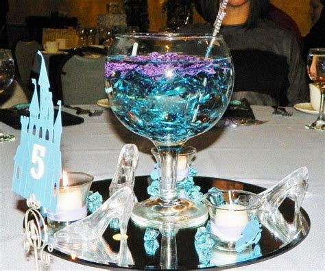 My cinderella wedding centerpieces. I wrapped the votives