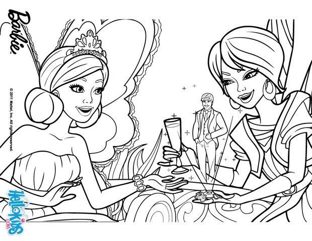 Crystal and princess graciella coloring pages - Hellokids.com