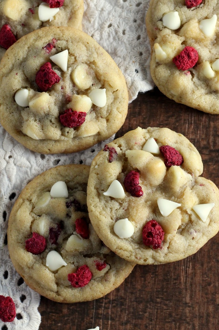 White Chocolate Raspberry Cookies - Chocolate With Grace
