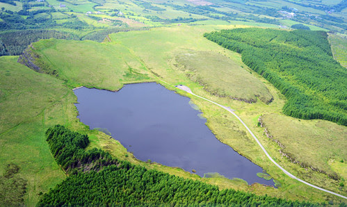 Binevenagh Lake, Glider View