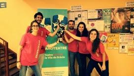 L'equip de #Nanoteatre a Lluïsos de Gràcia (2015).