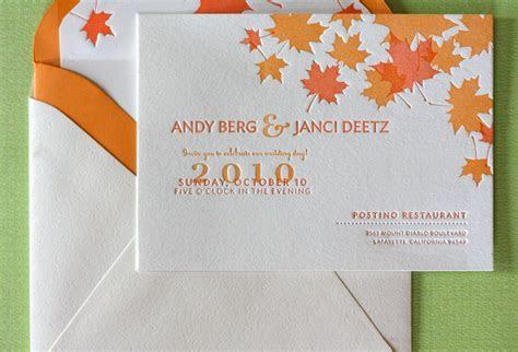 Maple Leaf Wedding Invitations