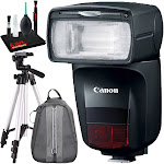 "Canon Speedlite 470EX-AI with 57"" Tripod and Backpack for Camera/Accessories"