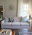 Grey and blue living room Chic living room design with soft greige ...