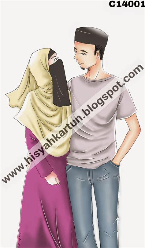 gambar kartun muslim couple romantis top gambar