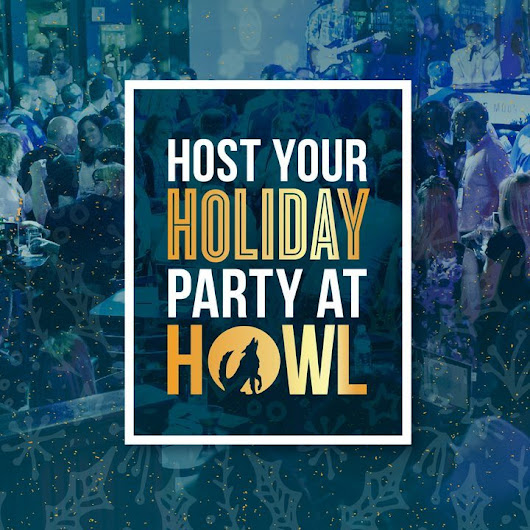 Christmas Party Venues | Office Holiday Party | Office Party Venues | Howl at the Moon