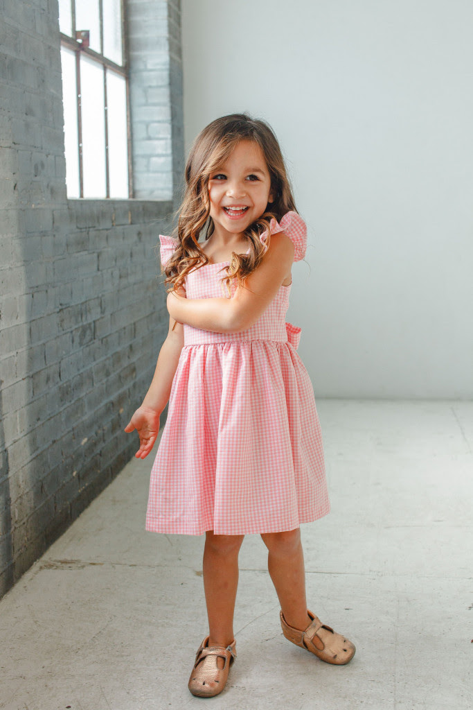 little girls Easter dresses - pink gingham dress