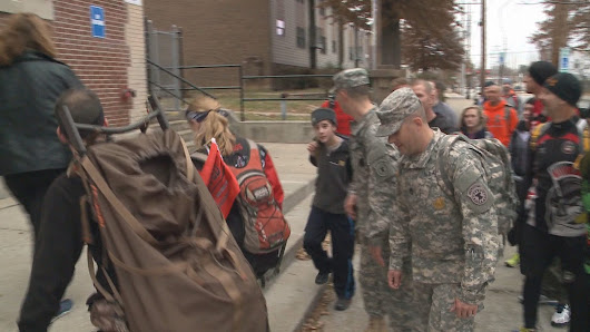 Rucksgiving event brought nearly 1000 lbs. of food to Louisville shelters