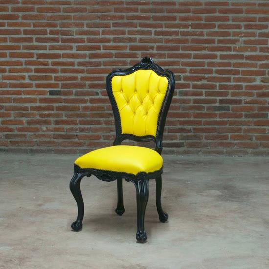 Fab.com   Side Chair Black & Yellow by POLaRT