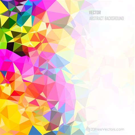 poly colorful rainbow background