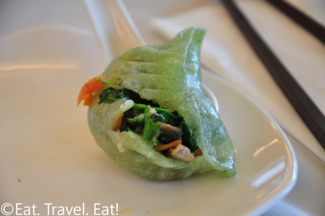 Interior of Spinach Dumpling