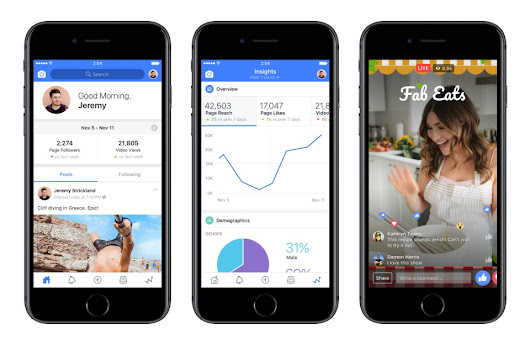 Facebook Launches New 'Creator' App, Adds Tools for Video Publishers