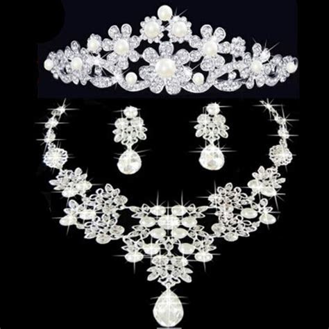 2019 Matching Jewelry Sets Tiaras Necklace And Earrings